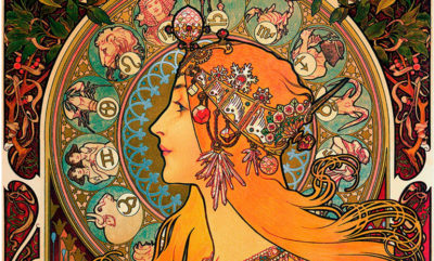 Horoskop - bilde av kvinne i dyresirkelen